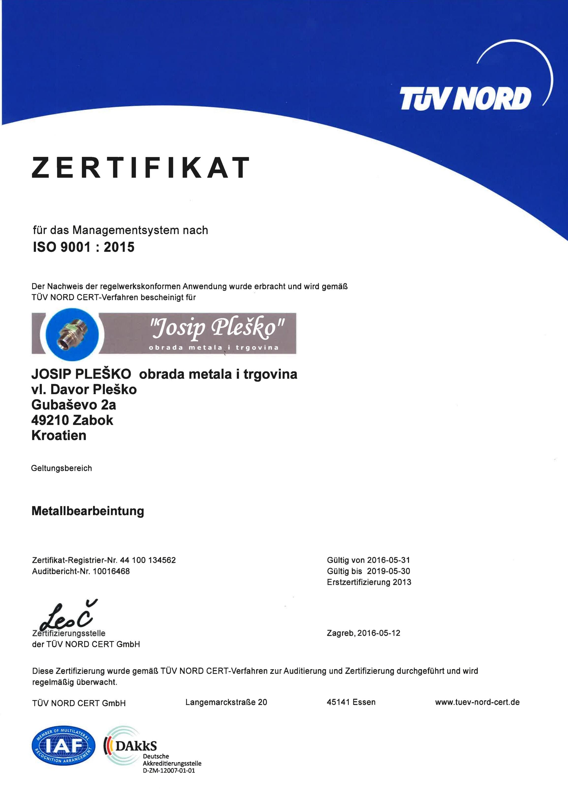 josip-plesko-iso-certifikat